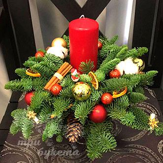 Красная свеча на Новый год