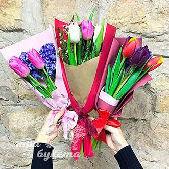 Мини-букет из 3 тюльпанов